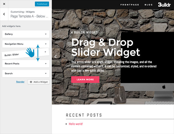 Create Websites with Buildr's Page Builder